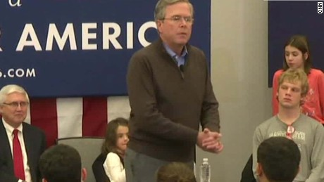 Jeb Bush to audience: 'Please clap'