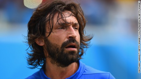 NATAL, BRAZIL - JUNE 24:  Andrea Pirlo of Italy looks on during the 2014 FIFA World Cup Brazil Group D match between Italy and Uruguay at Estadio das Dunas on June 24, 2014 in Natal, Brazil.  (Photo by Matthias Hangst/Getty Images)
