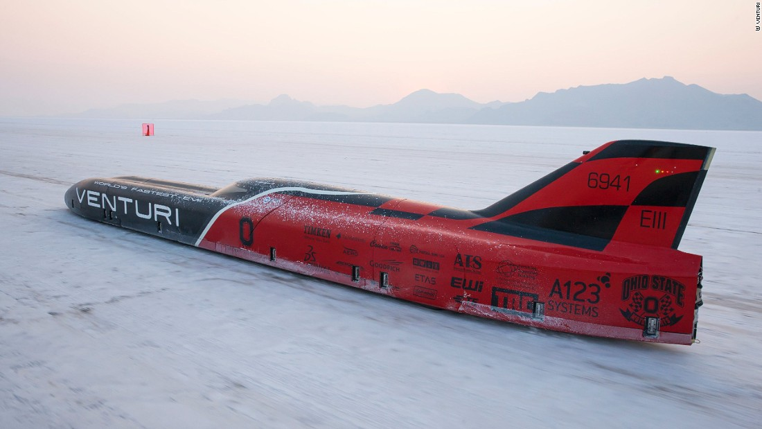 """Roger Schroer has been piloting the Venturi land speed vehicles for several years now. <br />So what's it like to drive at 372 mph (600 kph)? """"He is a quiet man, but he likes how it feels"""" says Venturi's lead project engineer Delphine Biscaye, of Schroer's experience."""