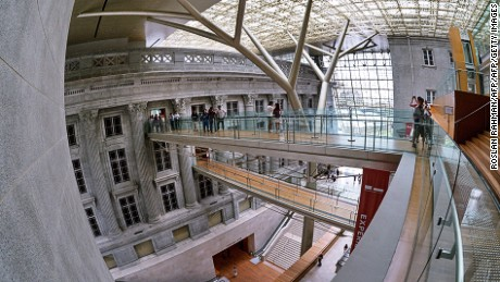 An interior view of the newly restored National Gallery, formerly the City Hall and High Court building, in Singapore on November 25, 2015. The gallery oversees the worlds leading public collection of modern art from Singapore and Southeast Asia comprising over 8,000 works from the 19th and 20th centuries in all media, including painting, sculpture, printmaking, photography and video . AFP PHOTO / ROSLAN RAHMAN / AFP / ROSLAN RAHMAN        (Photo credit should read ROSLAN RAHMAN/AFP/Getty Images)