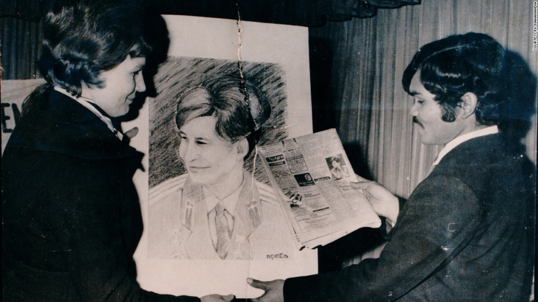 Mahanandia's portrait of Soviet astronaut Valentina Tereshkova had launched his illustrious career painting Delhi's politicians.