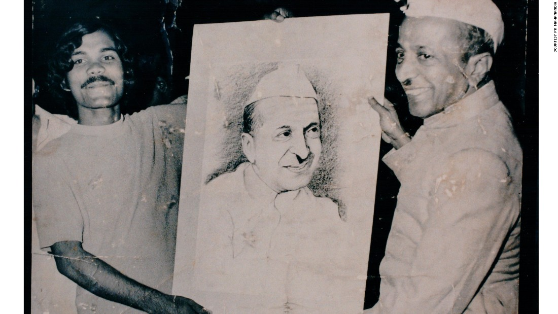 He painted the portrait of Indian Vice President B.D. Jatti, pictured, as well as Prime Minister Indira Ghandi. When he discovered that the talented artist was often sleeping rough, a kindly Member of Parliament paid for his flat on an affluent Delhi street.
