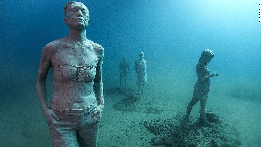 DeCaires Taylor has supplied similar sculpture installations at underwater museums in the Bahamas, Mexico and the Antilles.