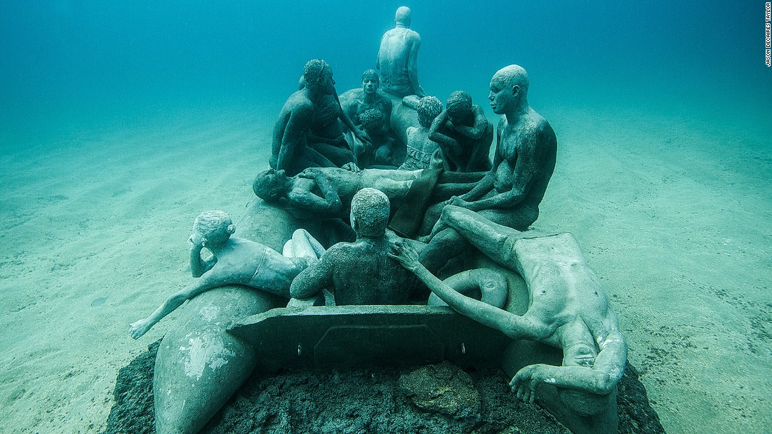 Europe's first underwater museum is opening in waters off the Spanish island of Lanzarote.