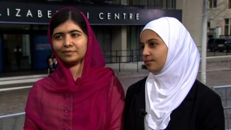 Malala and 'Syrian Malala,' Muzoon, on right to education