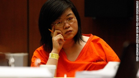 "Hsiu– Ying ""Lisa'"" Tseng, a Rowland Heights doctor charged with second–degree murder and other counts in the prescription drug overdose deaths of three male patients in their 20s, appears in a Los Angeles courtroom for a preliminary hearing on Monday, June 4, 2012.  (Photo by Luis Sinco/Los Angeles Times via Getty Images)"