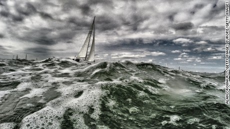 COWES, ENGLAND - AUGUST: (EDITOS NOTE: This image was processed using digital filters) A general view during Aberdeen Asset Management Cowes Week on August, 2015 in Cowes, England. (Photo by Alan Crowhurst/Getty Images)