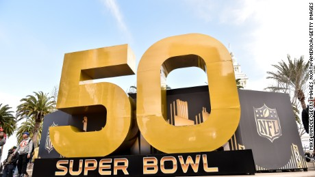 SAN FRANCISCO, CA - FEBRUARY 04:  Super Bowl 50 signage is displayed around Super Bowl City on February 4, 2016 in San Francisco, California.  (Photo by Mike Windle/Getty Images)