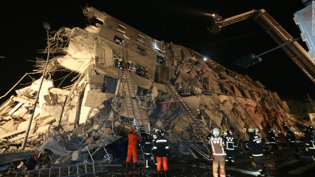 Five dead after magnitude-6.4 earthquake shocks Taiwan