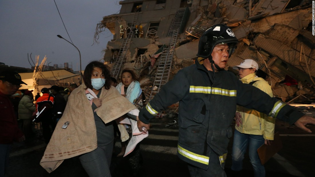 Li Bomin, an official from Tainan City Fire Department, told CNN that more than 100 rescuers were at the scene.