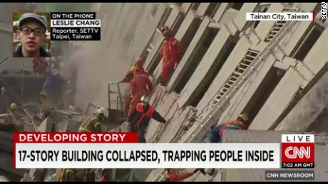 taiwan earthquake building collapse leslie change vo_00001724