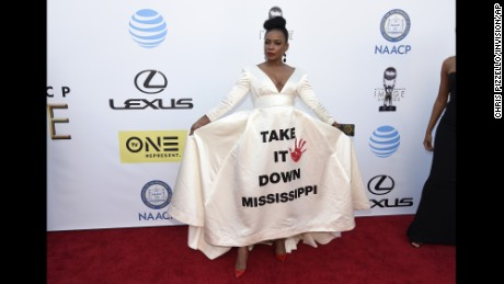 Actress Aunjanue Ellis, a native Mississippian, has been an outspoken opponent of the state flag.
