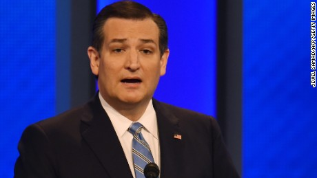 Republican presidential candidate Ted Cruz speaks during the Republican Presidential Candidates Debate February 6, 2016 at St. Anselm's College Institute of Politics in Manchester, New Hampshire.