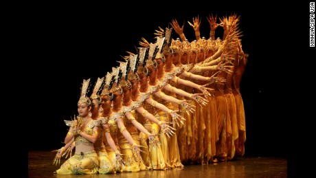 """Dancers perform in the musical show """"My Dream, Chinese New Year 2016"""" at the Theater of the City Esperanza Iris in Mexico City, Mexico, on Friday, February 5."""