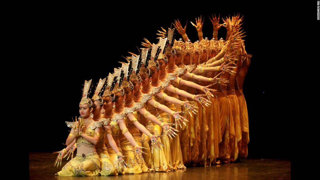 Dancers perform in a musical show at a Mexico City theater on Friday, February 5.