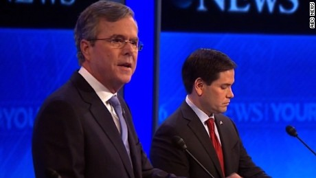 Bush jabs Rubio over leadership experience