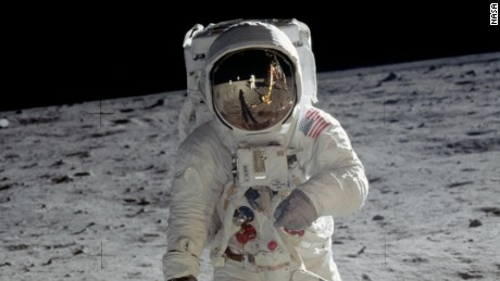 Buzz Aldrin was lunar module pilot and the second man to walk on the moon. On each lunar landing mission, one crew member stayed in orbit in the command module. On this mission that was Michael Collins.
