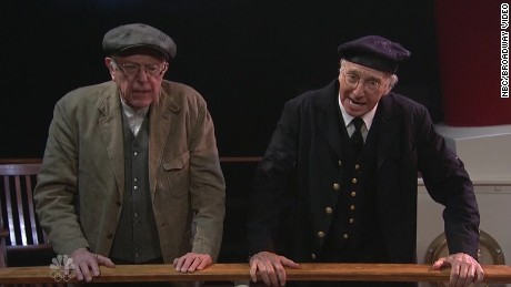 Sanders, Larry David meet on 'SNL'