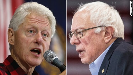 Bill Clinton campaigns against Bernie Sanders