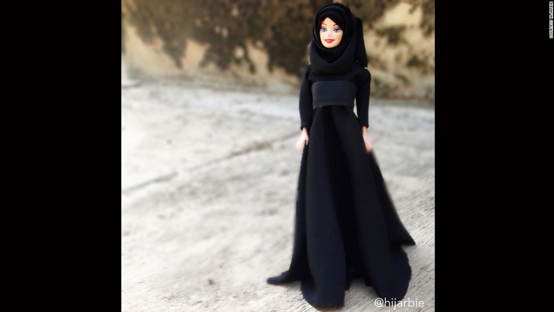 "While <a href=""https://www.instagram.com/p/-mZgjjw4ll/"" target=""_blank"">Barbie loves a LBD </a>(little black dress), Hijarbie prefers a longer version."