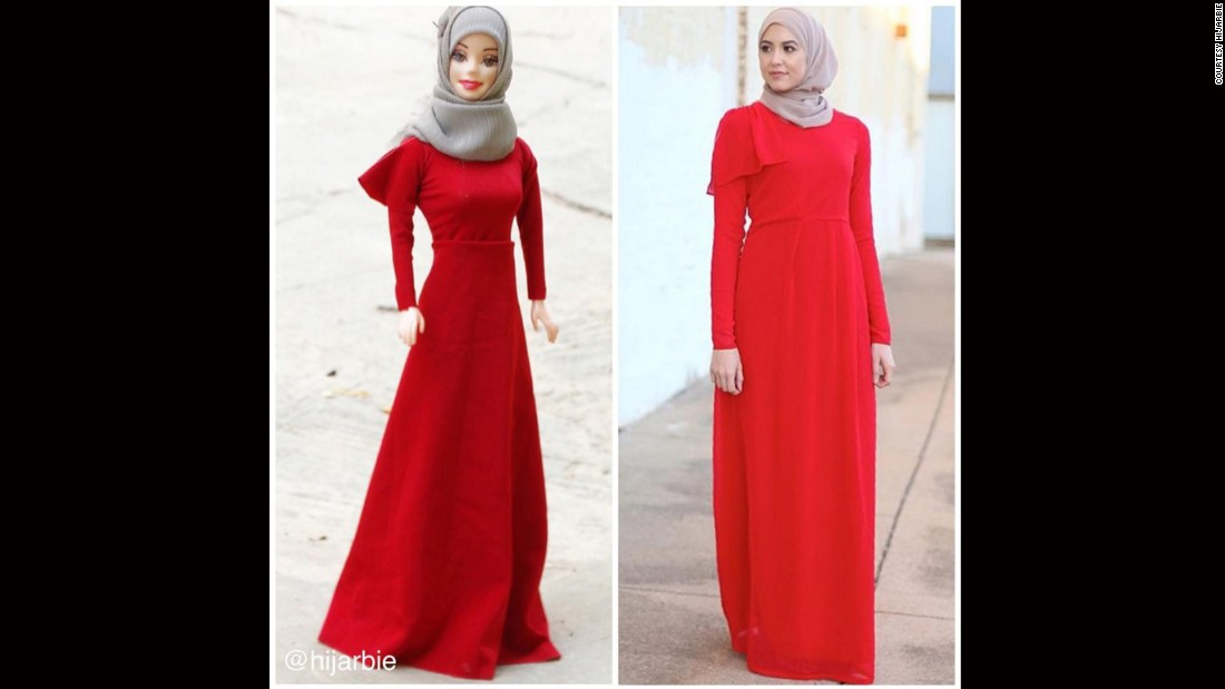 """This grey and red look is inspired by Texas-based <a href=""""http://www.withloveleena.com/lady-in-red/"""" target=""""_blank"""">fashion and lifestyle blogger With Love, Leena</a>, whose <a href=""""https://www.youtube.com/watch?v=LGwYnplcfJ8"""" target=""""_blank"""">Hijab tutorial has over 400,000 views on YouTube.</a>"""