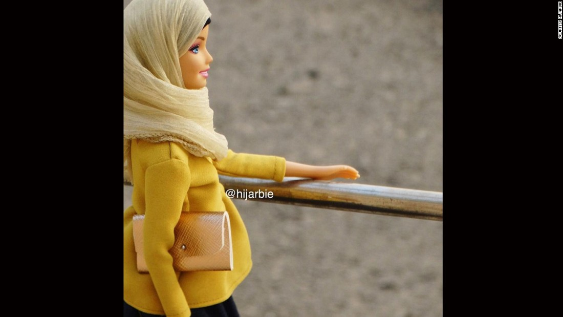 """After seeing the <a href=""""https://www.instagram.com/barbiestyle/"""" target=""""_blank"""">Barbie Style Instagram account</a>, Adam started dressing her dolls modestly in colourful headscarves, robe-like dresses called abayas, peplum blouses and flowing maxi-skirts."""