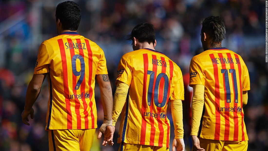Argentina captain Messi has a remarkable 301 goals in 336 games for Barcelona and is part of the most feared forward line in world football alongside fellow South Americans Luis Suarez and Neymar. The trio helped Barca win the Spanish League, Spanish Cup and European Champions League last season.