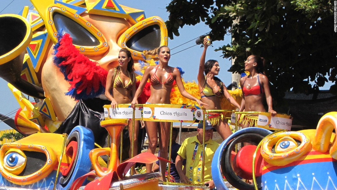 Scanty costumes and vibrant colors are part of carnival festivities the world over. In Barranquilla, carnival also has a distinctly Caribbean flavor.