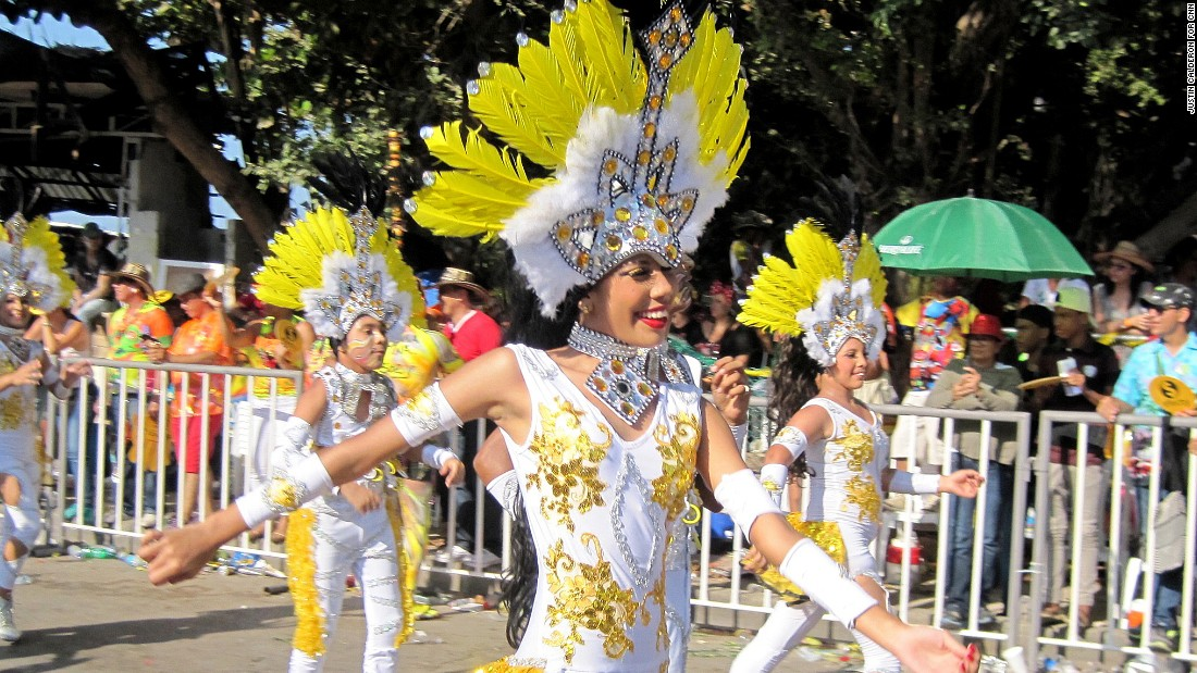 Some costumes are similar to those seen in Rio de Janeiro.