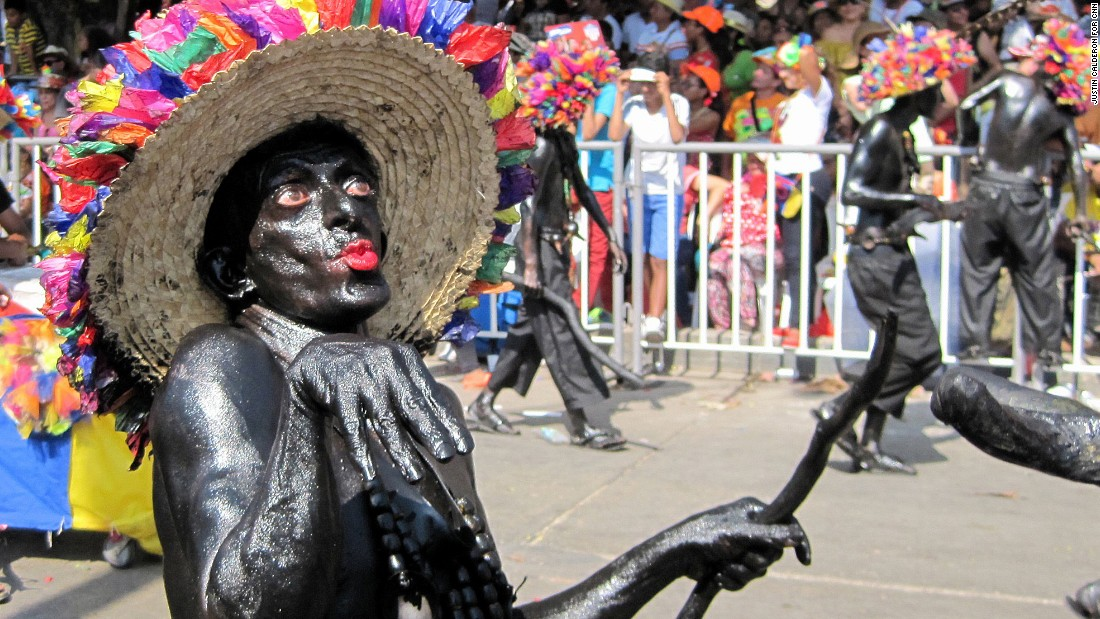"One of the more controversial characters of the Carnaval is the ""Son de Negro,""  a figure of liberation, according to local tradition."