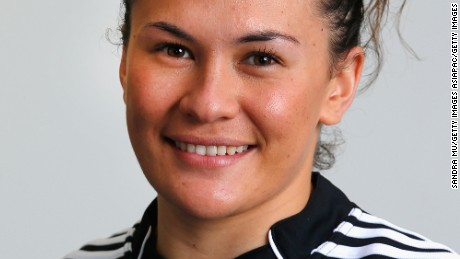 AUCKLAND, NEW ZEALAND - AUGUST 01:  Portia Woodman poses during a New Zealand Women's Sevens headshots portrait session at Millennium Institute on August 1, 2012 in Auckland, New Zealand.  (Photo by Sandra Mu/Getty Images)