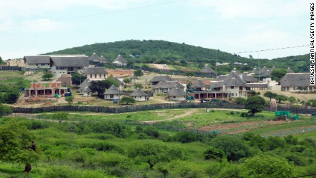 A picture of President Jacob Zuma's private residence in Nkandla, some 178 kilometres north of Durban, on November 4, 2012.The Democratic Alliance (DA) leader Hellen Zille was prevented from inspecting roads around the property and attempt to enter President Zuma's compound.Zuma's private home will reportedly feature underground bunkers,a clinic,a fire station,a special quarter for police and a helipad.The estimated costs for the current upgrade is set to cost 30 million US dollars.The DA has called for an investigations to the funding and upgrading of the Zuma's residence.