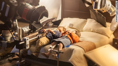 Puppets on the set of the animated stop-motion film, ANOMALISA, by Paramount Pictures
