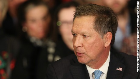 CONCORD, NH - FEBRUARY 09:  Republican presidential candidate Ohio Governor John Kasich speaks at a campaign gathering with supporters upon placing second place in the New Hampshire republican primary on February 9, 2016 in Concord, New Hampshire. (Photo by Andrew Burton/Getty Images)