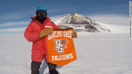 Professor Kurt Panter and student Jenna Reindel from Bowling Green State University have returned from their once-in-a-lifetime trip to the South Pole.