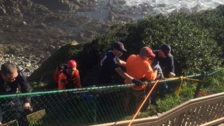A missing woman and her Rottweiler were found on the side of a cliff above the ocean on the Oregon coast.