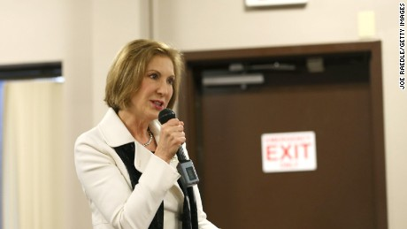 Republican presidential candidate Carly Fiorina speaks during a Timberland Town Hall at the Timberland Global Headquarters on February 3, 2016 in Stratham, New Hampshire.