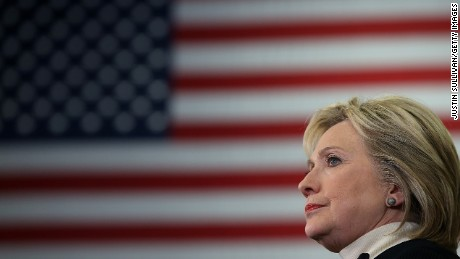 Democratic presidential candidate, former Secretary of State Hillary Clinton speaks at her primary night gathering at Southern New Hampshire University on February 9, 2016 in Hooksett, New Hampshire.