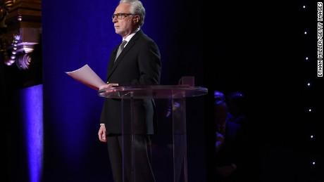 CNN anchor Wolf Blitzer moderates the CNN presidential debate at The Venetian Las Vegas on December 15, 2015 in Las Vegas, Nevada.