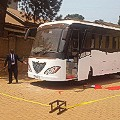 Africa solar bus Uganda bus Paul