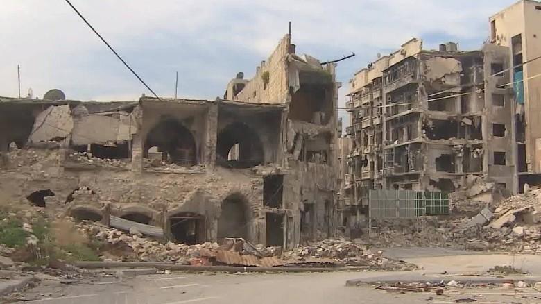 Syria Aleppo front line pleitgen pkg_00000000