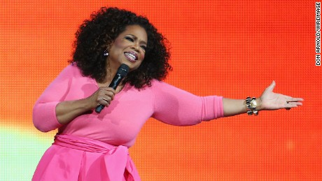 Oprah Winfrey is seen on stage during her 'An Evening With Oprah' tour at Allphones Arena in Sydney, Australia on December 12, 2015.