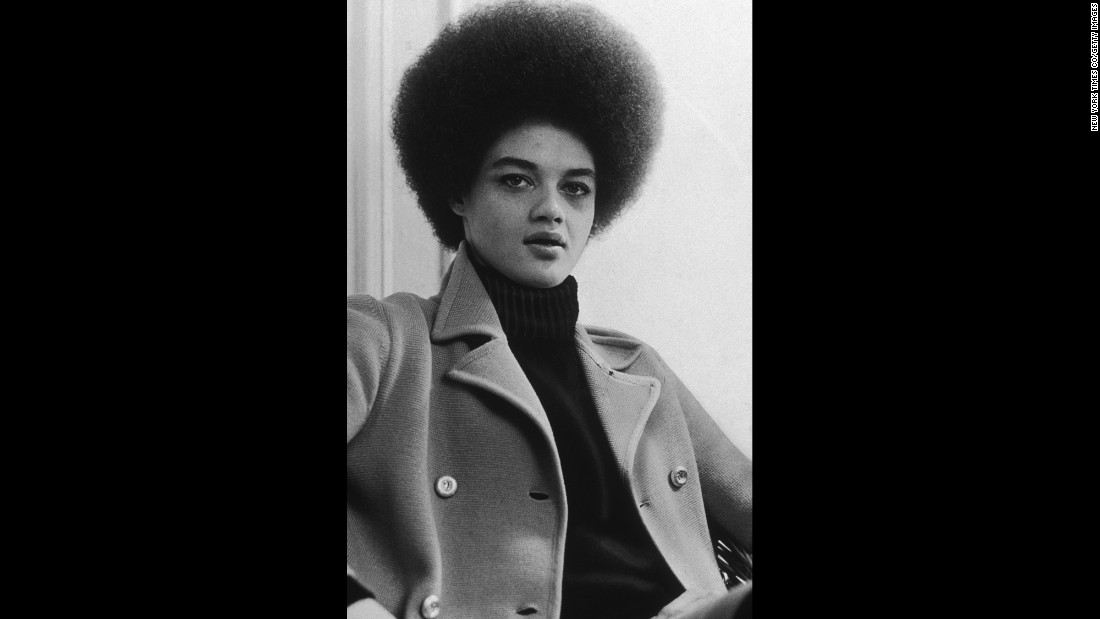 Black Panther leader Kathleen Cleaver in 1968. Though men got most of the attention in the Black Panther Party, the group recruited many strong women leaders. Cleaver is now a law professor at Emory University in Atlanta, Georgia.