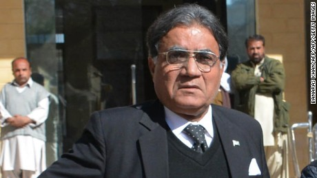 Pakistan's former president Pervez Musharraf leaving a court hearing in Quetta last month.
