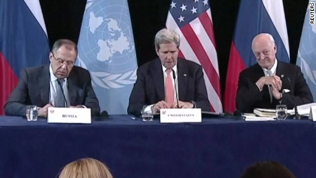 Diplomats agree to 'cessation of hostilities' in Syria