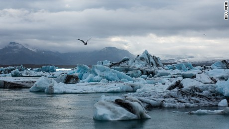Jokulsarlon glacial lagoon, at the southern end of Iceland's Vatnajokull glacier -- the largest ice cap by area, in all of Europe.