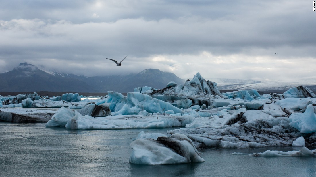 Jokulsarlon glacial lagoon is at the southern end of Iceland's Vatnajokull glacier, the largest ice cap by area in all of Europe.