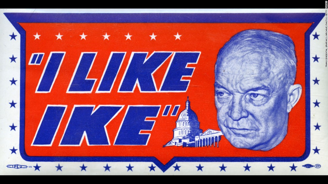 Like ike quot decal from the 1952 presidential campaign showing a