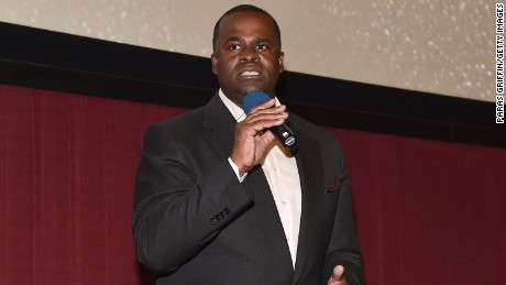 """Atlanta mayor Kasim Reed speaks onstage at """"Straight Outta Compton"""" VIP screening with director/producer F. Gary Gray, producer Ice Cube, executive producer Will Packer and cast members at Regal Atlantic Station on July 24, 2015 in Atlanta, Georgia."""