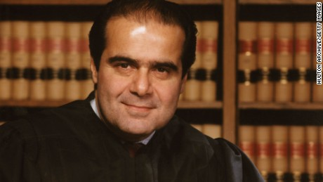 384802 07: (FILE PHOTO) This undated file photo shows Justice Antonin Scalia of the Supreme Court of the United States in Washington, DC. (Photo by Liaison)